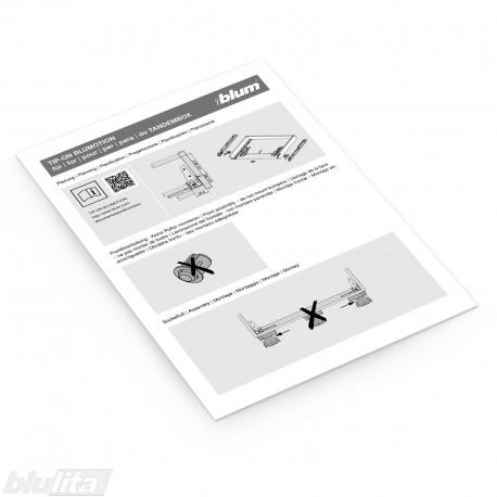Instrukcijos – TIP-ON BLUMOTION skirtas TANDEMBOX