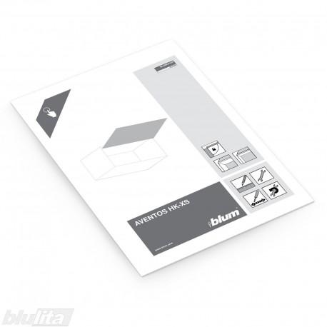Instrukcijos – AVENTOS HK-XS su aliuminio profilio fasadais, bendrinė kalba