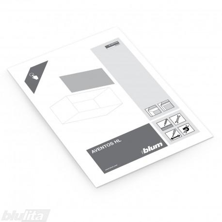 Instrukcijos – AVENTOS HL su aliuminio profilio fasadais, bendrinė kalba