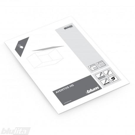 Instrukcijos – AVENTOS HS su aliuminio profilio fasadais, bendrinė kalba
