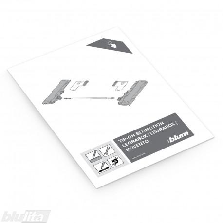 Instrukcijos – TIP-ON BLUMOTION skirtas LEGRABOX ir MOVENTO, bendrinė kalba