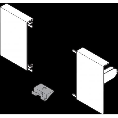 TANDEMBOX INTIVO vidinio stalčiaus M fasado laikiklis,TERRA BLACK (kairė+dešinė)