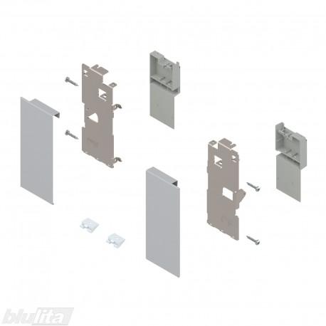 """LEGRABOX vidinio stalčiaus fasado laikiklis, K aukštis, sidabro """"Polar"""" spalvos"""
