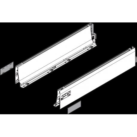TANDEMBOX INTIVO stalčiaus šonas L - SU ĮLAIDA, 650mm, SILK WHITE (kairė+dešinė), 358L