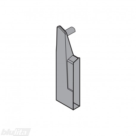 TANDEMBOX plus vidinio stalčiaus fasado laikiklis, Baukštis, tamsiai pilkos spalvos, kairys