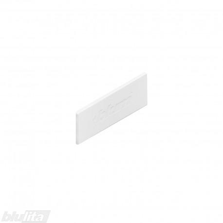 """TANDEMBOX intivo/antaro stalčių šonų dangtelis su Blum logotipu, baltos """"Silk"""" spalvos, simetriškas"""