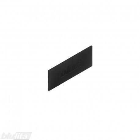 """TANDEMBOX intivo/antaro stalčių šonų dangtelis su Blum logotipu, juodos """"Terra"""" spalvos, simetriškas"""