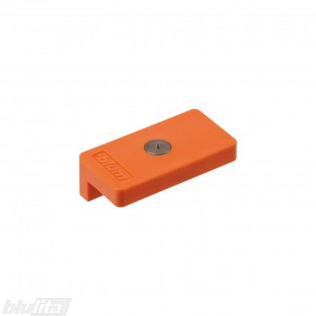 Šablonas-žymeklis, TIP-ON prisukamos arba klijuojamos plokštelės (955..) vietos pažymėjimui, oranžinis
