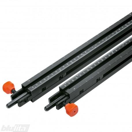 Prailginimo liniuotės, ilgis 1700mm, skalė nuo 850–2550mm į kairę ir dešinę