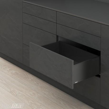 LEGRABOX pure C stalčiaus komplektas, juodas