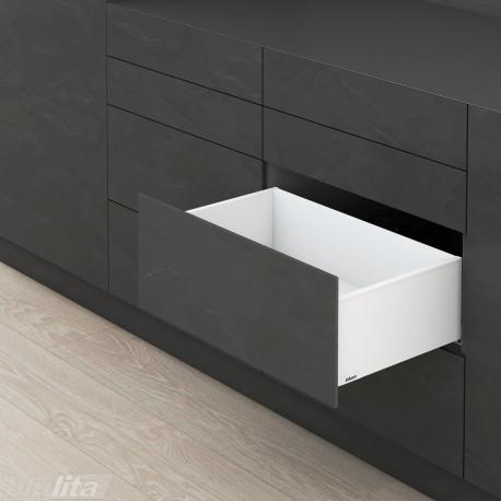 LEGRABOX pure C stalčiaus komplektas ploniems fasadams, baltas