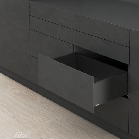 LEGRABOX pure C stalčiaus komplektas ploniems fasadams, juodas