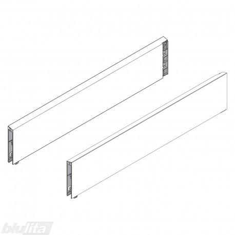 INTIVO stalčių šonų paaukštinimas BOXCAD, 400 mm TERA BLACK (pora)
