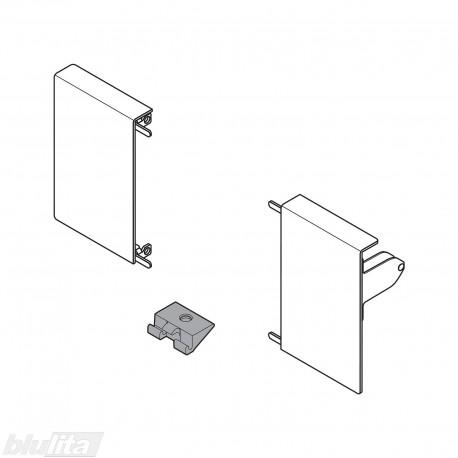 TANDEMBOX INTIVO vidinio stalčiaus M fasado laikiklis,SILK WHITE (kairė+dešinė)