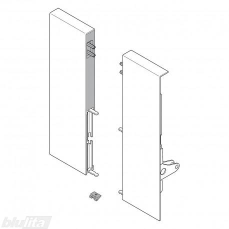 TANDEMBOX INTIVO vidinio stalčiaus D fasado laikiklis su vamzdeliu,SILK WHITE (kairė+dešinė)