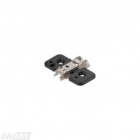 CLIP lanksto plokštelė su ekscentriniu reguliavimu +0 mm, juoda ONYX