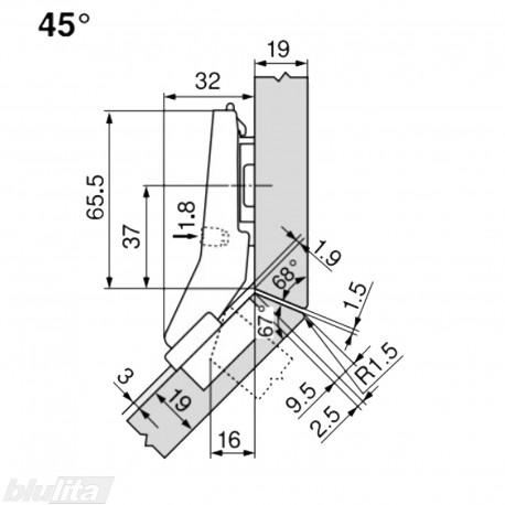 CLIP top lanksto komplektas N60