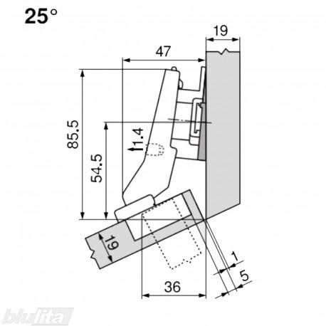 CLIP top lanksto komplektas N20