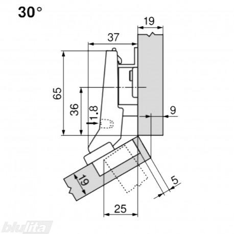 CLIP top lanksto komplektas N51, juodas ONYX