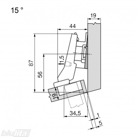 CLIP top lanksto komplektas N18