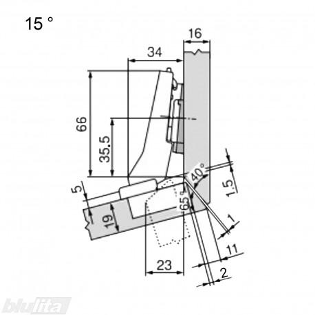 CLIP top lanksto komplektas N55