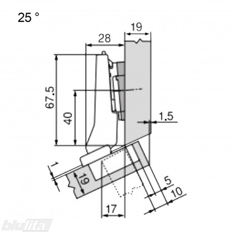CLIP top lanksto komplektas N5