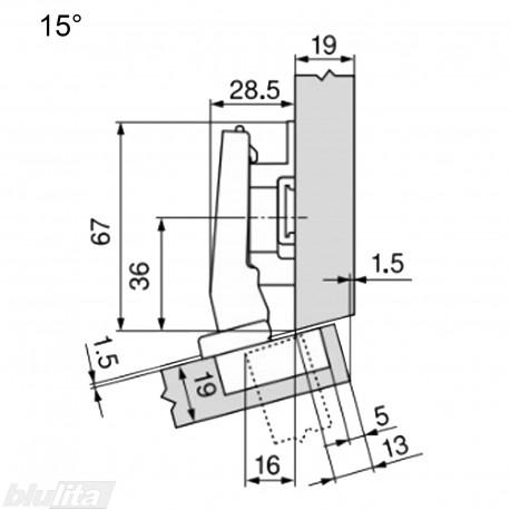 CLIP top lanksto komplektas N37, juoda ONYX