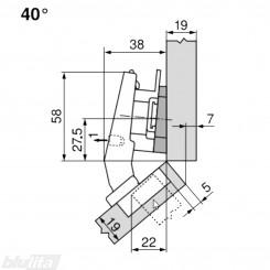 CLIP top lanksto komplektas N108