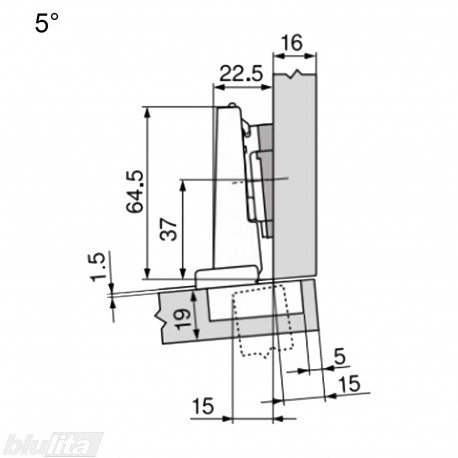 CLIP top lanksto komplektas N15