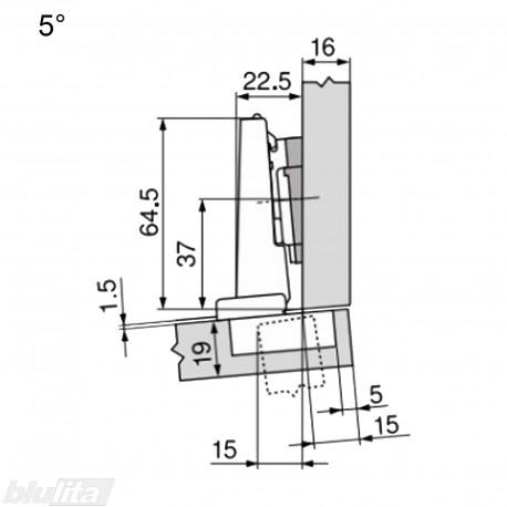 CLIP top lanksto be spyruoklės komplektas N36