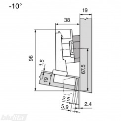 CLIP top lanksto komplektas N14