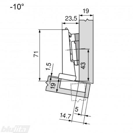 CLIP top lanksto komplektas N34