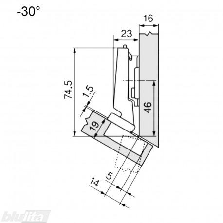 CLIP top lanksto komplektas N30