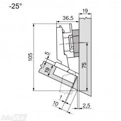 CLIP top lanksto komplektas N11