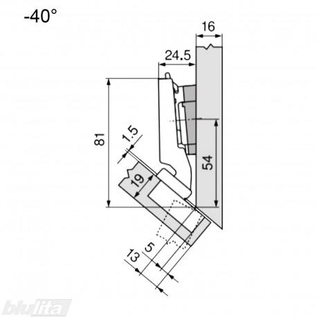 CLIP top lanksto komplektas N28