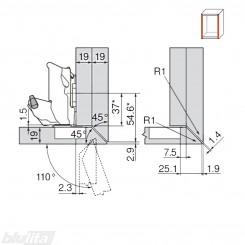 CLIP top lanksto be spyruoklės 155 laipsn. komplektas, išorinis, INSERTA