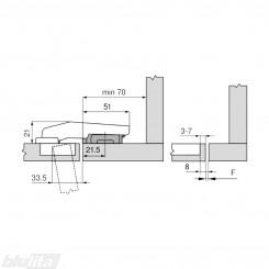 CLIP top vienos plokštumos lanksto komplektas
