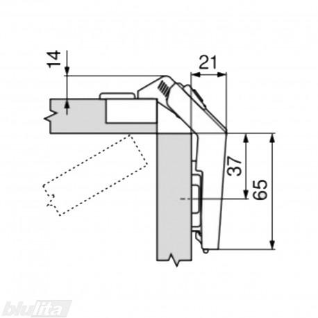 CLIP top lanksto komplektas išlankstomoms durelėms