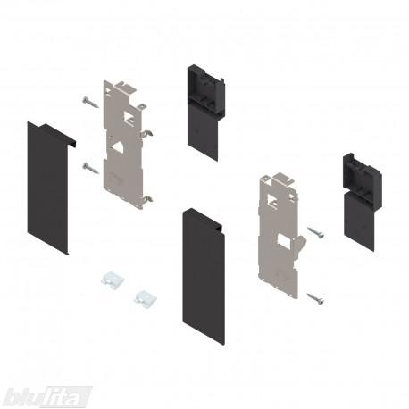"""LEGRABOX vidinio stalčiaus fasado laikiklis, K aukštis, juodos """"Terra"""" spalvos"""